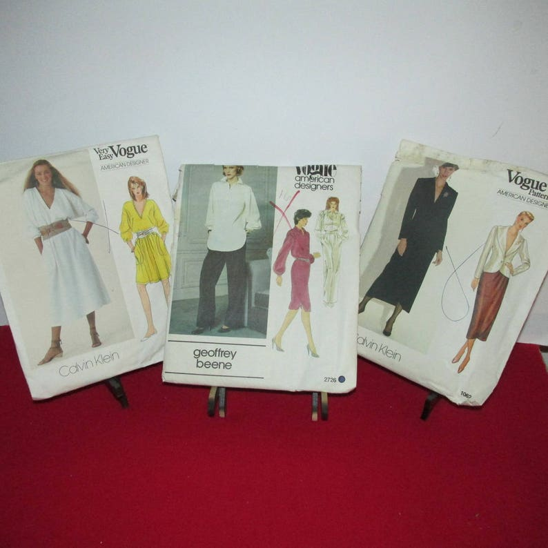 Sewing Patterns Ladies/' Vogue Butterick Vintage Lot of Ten 90/'s 10 McCall/'s  Circa 80/'s