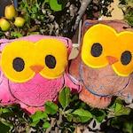 Owl Plush - Organic Baby Toy -Woodland Owl Baby Toy - Bird Plushed Animal - Owl Softie for kids - Baby Boy oder Baby Girl Gift - Kid Safe