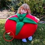 Tomato Plushie Super Sized Huggable Plush Tomato Stuffed Toy - XXL Sized Tomato Plush - Big Tomato - Giant Tomato Plush Toy or Decoration