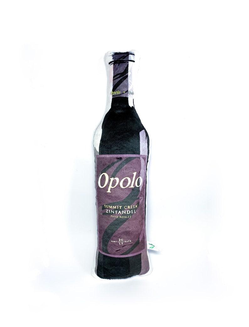 Wine Bottle Pillow Bottle Shaped Plushie Winery Decor Farm image 0