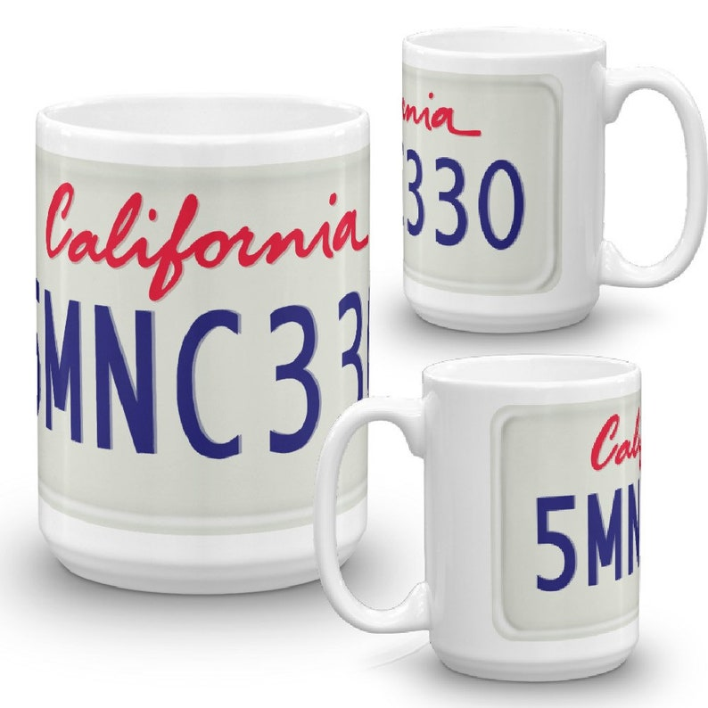License Plate Mug Custom License Plate Cup Custom Coffee Mug image 0