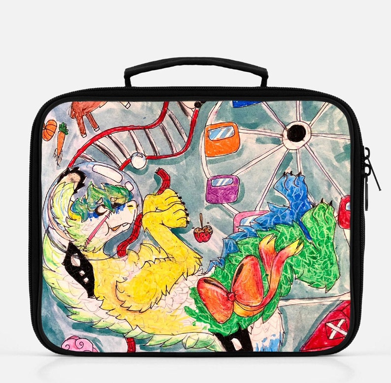 Custom Kids Lunchbox of your Art Kids Drawing Lunchbox School image 0