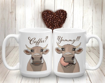 Brown Cow Mug Milk Cow Coffee Mug Funny Farm Animal Cup Gift for Farmer Farm-life Cow Kitchen Decor Cow Lover Gift Gift for Mom Gift for Kid