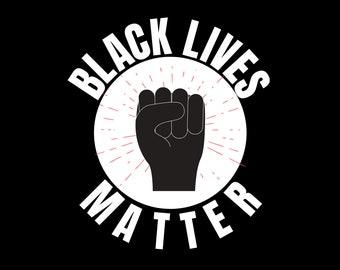 Black Lives Matter Poster Digital Download- BML Protest Poster - Black Lives Matter Sign - Digital Print to Download - Black Owned Shop