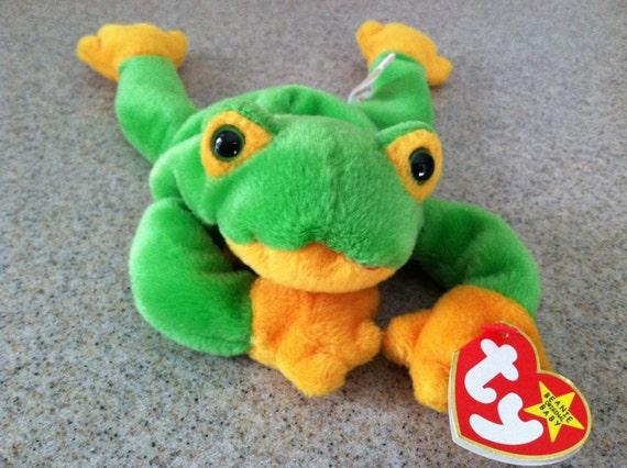 f0de794f853 Vintage Smoochy the Frog Beanie Baby