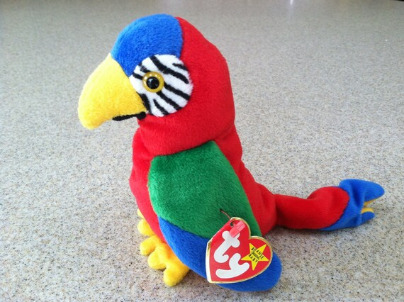 Vintage Ty Jabber the Parrot Beanie Baby  5408269dccaa
