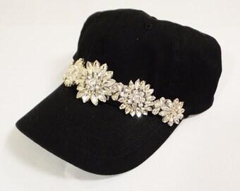 Black Rhinestone Hat ac3d8bf38d91