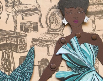 Mermaid Paper Doll 141 - Lupita in Halpern