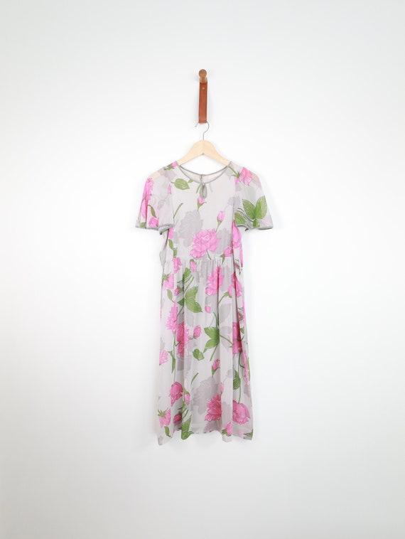 Rose, vintage dress, Japan, small