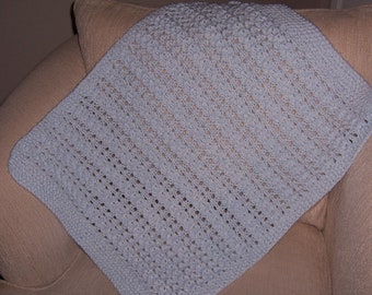 Knit Baby Receiving Blanket