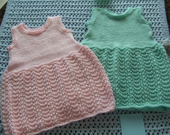 Hand Knit Baby Girl/Toddler Dress