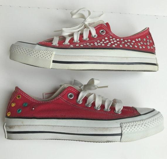 Customised Genuine Red Converse