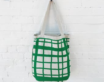 Kelly Green Picnic Linen Carry All