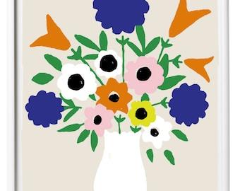 Giclee Erin Flett Art Print Spring Flowers