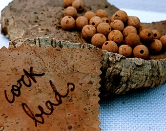 Cork Beads and Spheres