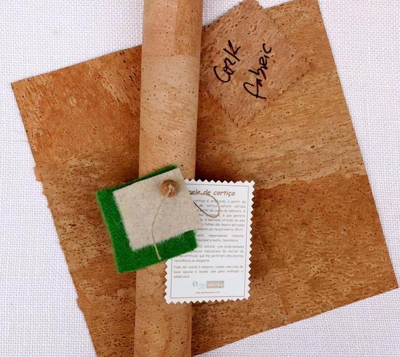 Natürliche Kork-Leder-Muster korkstoff für Näharbeiten | Etsy