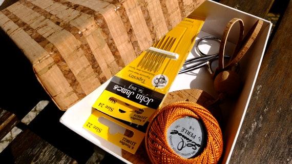 Couleurs d'automne boules nº8 coton boîte perlé dans une boîte coton de Liège, bricolage cadeau pour Noël, fil, 6 couleurs d'automne broderie soie boules, couleurs variées 639eda