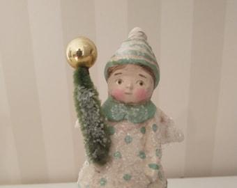 Christmas angel clay art Vintage look