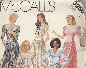 McCall's 3256 Misses' Eighties Dress