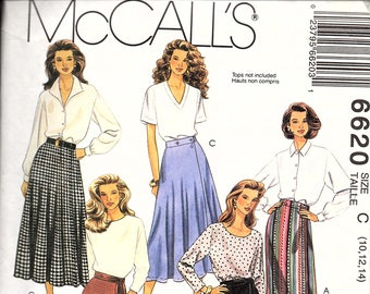 McCall's 6620 Misses' Wrap Skirts