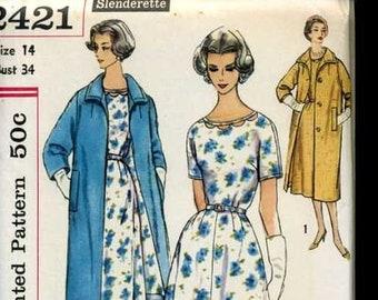 Simplicity 2421 1950's Dress