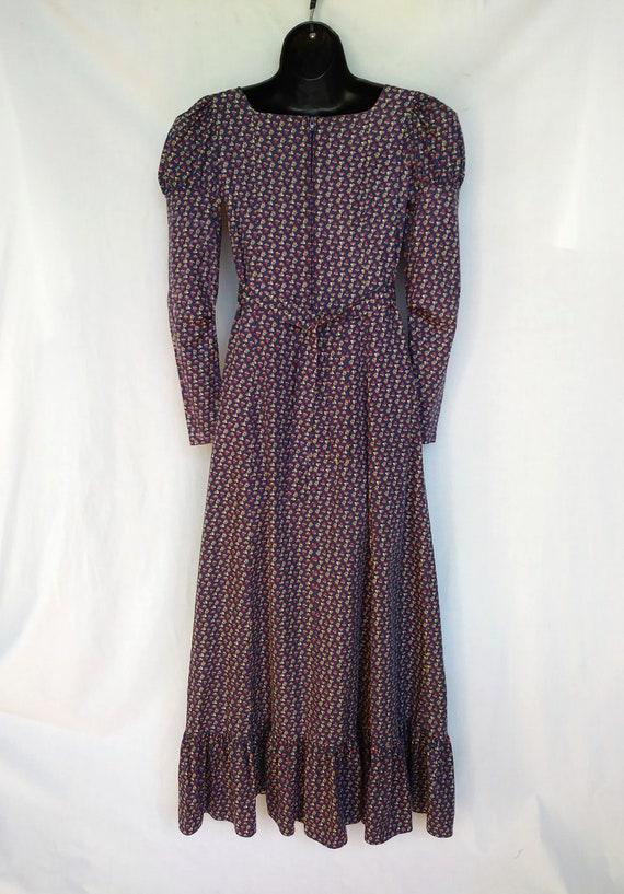 Vintage 1970s Maxi Dress, Mountain Artisans, Indi… - image 2