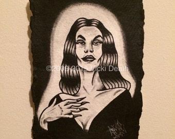 Vampira Original Painting