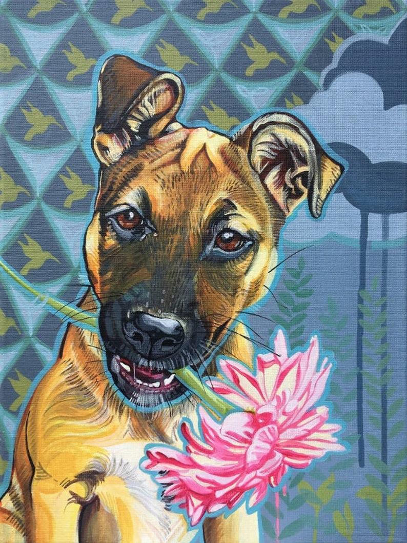 ONE PET Custom Painted Pet Portrait by Stephanie Kellett  Pet image 0