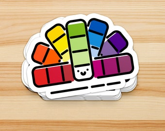 Pantone Color Swatch Book Rainbow die cut Sticker