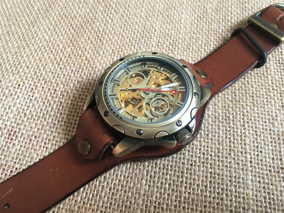 Engraved Skeleton Pocket Watch – Personalized Watc