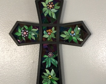Stained Glass Mosaic Cross