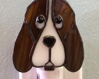Stained Glass Hound Dog Night Light