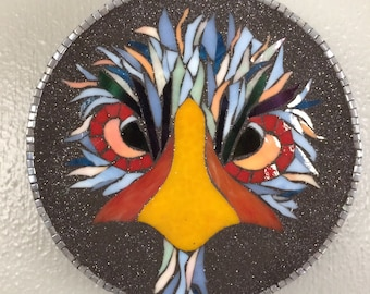 Stained Glass Mosaic Bird
