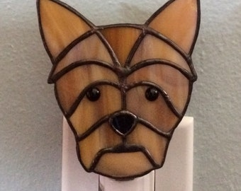 Stained Glass Terrier Dog Night Light