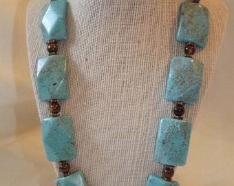 Turquoise and Tigerseye Necklace