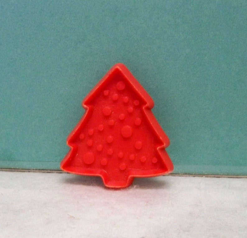 Miniature Christmas Tree Cookie Cutter Green Or Red Hallmark Cookie Mold Detailed Plastic 2 1 4 High Tree Cut Out Mint Cookie Recipe