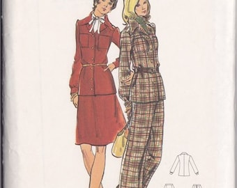 Misses  Jacket ~ Skirt & Pants Pattern ~ Butterick 3226 Size 12 ~ Three Piece Wardrobe ~ Cut But Complete