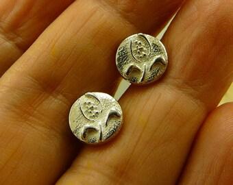 Silver Sterling Studs Earrings, handmade