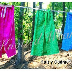 pink green blue capes Fairy Godmother Capes: flora fauna /& merryweather halloween costume meet and greet sleeping beauty birthday party