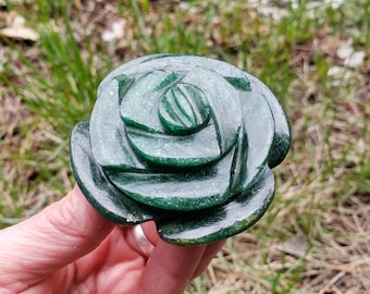 Fuchsite Flower carved in India