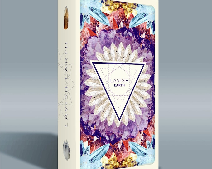Featured listing image: Lavish Earth Crystal Affirmation Cards
