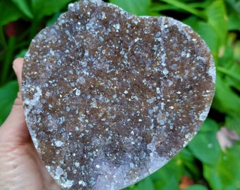 1 pound 4 ounce Rainbow Amethyst Heart from Uruguay