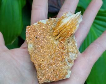 Sparkling Vanadinite on Barite from Morocco