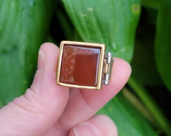 Size 8.75 Carnelian and Sterling Silver Ring
