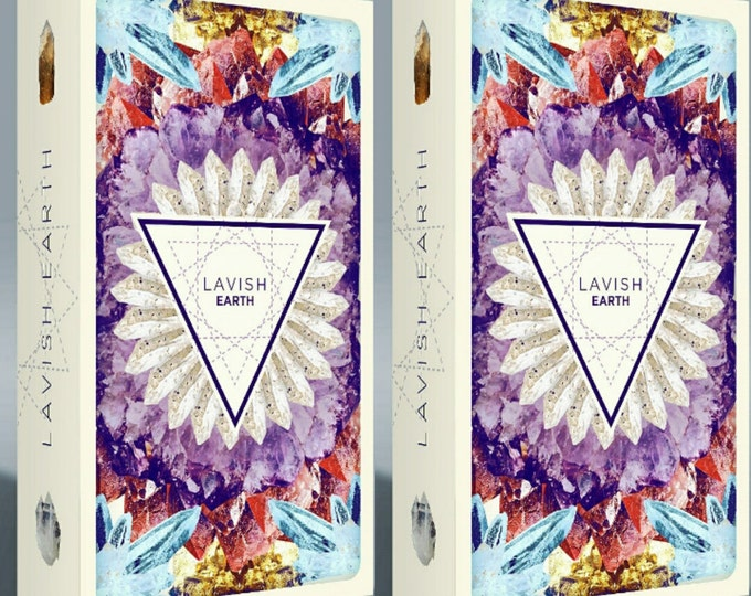 Featured listing image: Two Decks, Lavish Earth Crystal Affirmation Cards