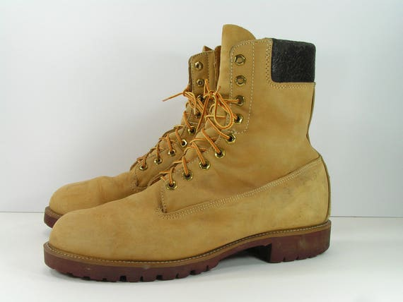 Vintage sears work boots mens 13 D tan