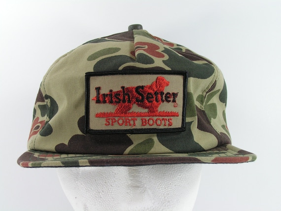 vintage Irish Setter patch snapback cap hat camouf