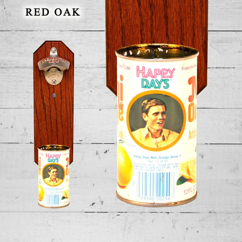 Gifts for Dad Happy Days Wall Mounted Bottle Opener with Vintage Richie Cunningham Beer Can Cap Catcher