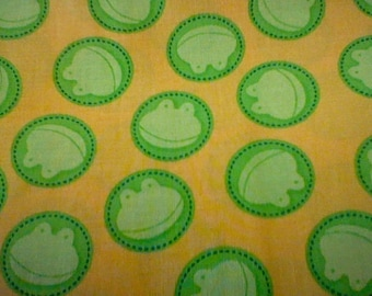 """Yellow Frog material - 16"""" piece"""
