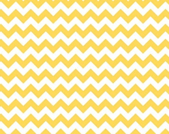 Riley Blake Small Chevron in Yellow - 2 yards 5 inches